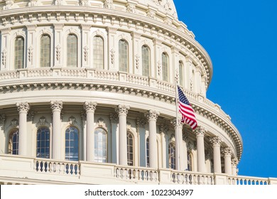 Dome of The United States Capitol Building. Washington DC, USA.