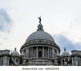The dome of Victoria Memorial.