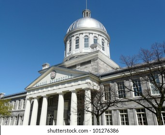 Domed Marche Bonsecours in Old Montreal (Vieux Montreal) in Quebec, Canada