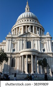 Domed roof of St Pauls Cathedral, London, England