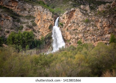 Domeno waterfall in Domeno Viejo, province of Valencia, Valencian Community, Spain