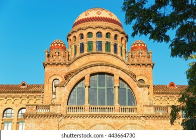 Domes of the Hospital de Sant Pau (of the Holy Cross and Saint Paul) in Barcelona, Spain. Now it is a museum