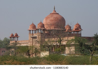 Domes of the Lallgarh palace in Bikaner, India