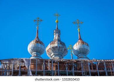 Domes of the restored church