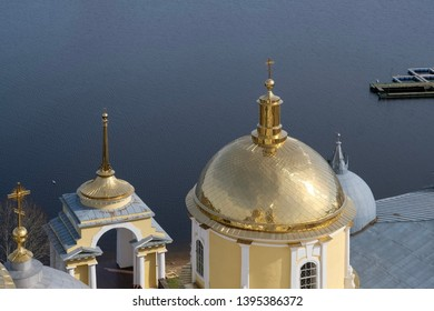 The domes of St. Nil (Nilus) Monastery, Russia