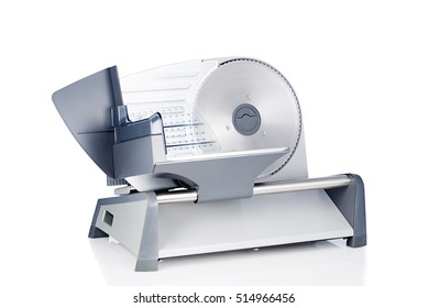 Domestic food slicer front view isolated on white background