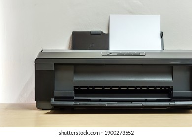 Domestic printer and paper in office