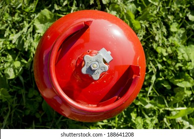 Domestic propane gas bottle