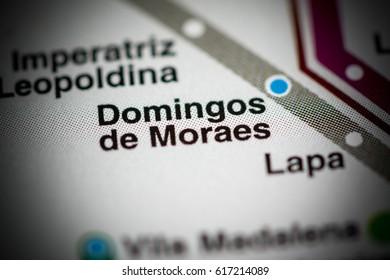 Domingos de Moraes Station. Sao Paolo Metro map.