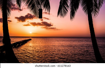 Dominica Sunset and Portrait and Pier