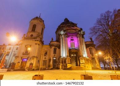 Dominican church of Corpus Christi in Lviv. Lviv, Lviv Oblast, Ukraine.