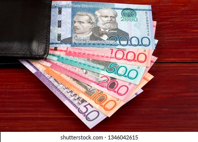Dominican Pesos in the black wallet
