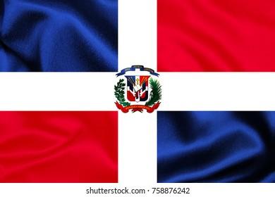 Dominican Republic Fabric Flag