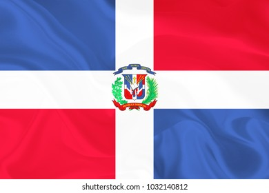 Dominican Republic Fabric flag background