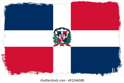 Dominican Republic flag grunge background. Background for design in country flag