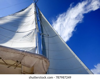 Dominican Republic: Sails on a sailboat