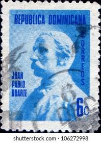DOMINICANA - CIRCA 1941: A stamp printed in Dominican Republic shows Juan Pablo Duarte, circa 1941