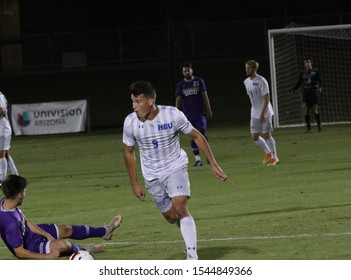 Dominick Faletto forwarder for the Houston Baptist College Huskies at GCU Stadium in Phoenix, Arizona/USA October 23,2019.