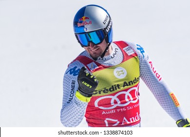 DOMINIK PARIS ITA takes part in the run for the SKI WORLD FINALS SUPER G MEN´S  race of the FIS Alpine Ski World Cup Finals at Soldeu-El Tarter in Andorra, on March 14, 2019.