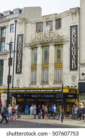 Dominion Theatre in London shows The Bodyguard Musical - LONDON / ENGLAND - SEPTEMBER 23, 2016