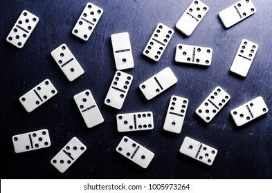 Domino game on a dark background