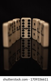 dominoes in a line and the 6\6 is centered