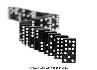 Dominoes on a white background. Games