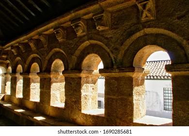 Domus Municipalis in medieval town of Braganca, Portugal