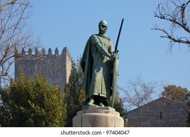 Don Alfonso Henrriques Statue - Guimaraes, Portugal
