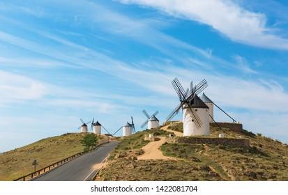 Don Quixote Windmills in Consuegra Spain