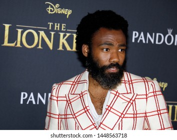Donald Glover and Childish Gambino at the World premiere of 'The Lion King' held at the Dolby Theatre in Hollywood, USA on July 9, 2019.