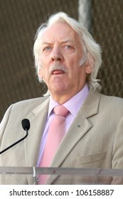 Donald Sutherland   at the Ceremony Honoring Kiefer Sutherland with the 2,377th Star on the Hollywood Walk of Fame. Hollywood Boulevard, Hollywood, CA. 12-09-08