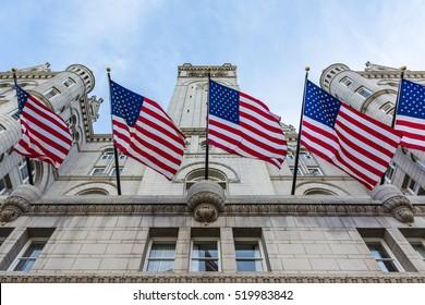 Donald Trump Hotel Washington DC Facade Exterior Entrance Looking Up November 2016