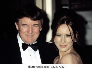 Donald Trump and Melania Knauss at the Film Society of Lincoln Center Honors for Susan Sarandon, NY 5/5/2003