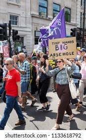 Donald Trump Protest London 2018