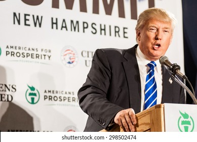 Donald Trump speaks at Americans for Prosperity's Freedom Summit in Manchester, NH, on April 12, 2014.