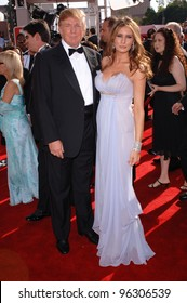 DONALD TRUMP & wife MELANIA at the 57th Annual Emmy Awards in Los Angeles. September 18, 2005; Los Angeles, CA:    Paul Smith / Featureflash