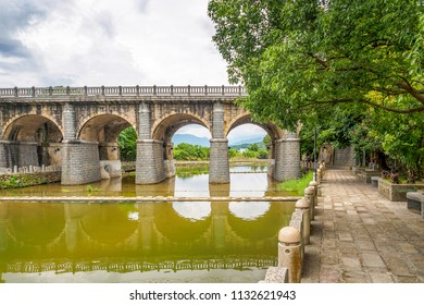 The Donan Old Bridge in Guanxi Township of Hsinchu County, Taiwan.
