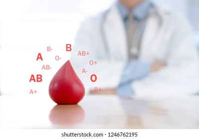 Donate Blood group and Doctor Concepts