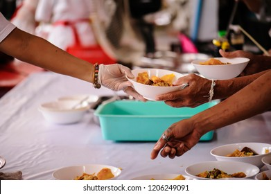 Donate food to hungry people, Concept of poverty and hunger