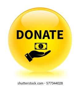 Donate icon. Internet button.3d illustration