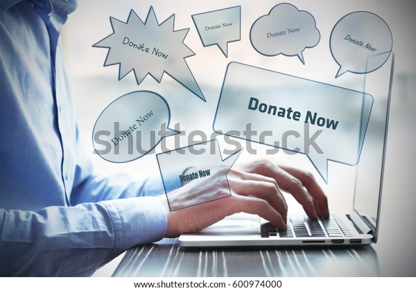 Donate Now, Technology Concept