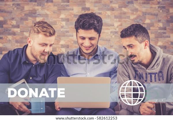 Donate Technology Concept