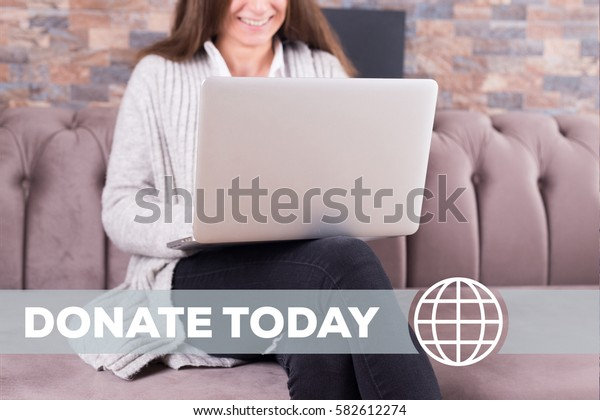 Donate Today Technology Concept