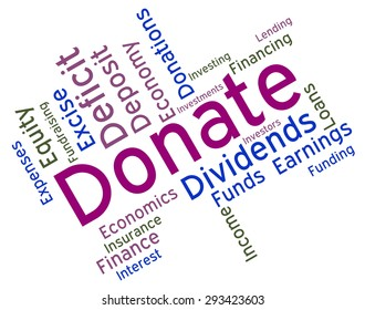 Donate Word Showing Supporter Give And Text