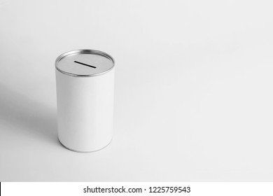 donation box on white background