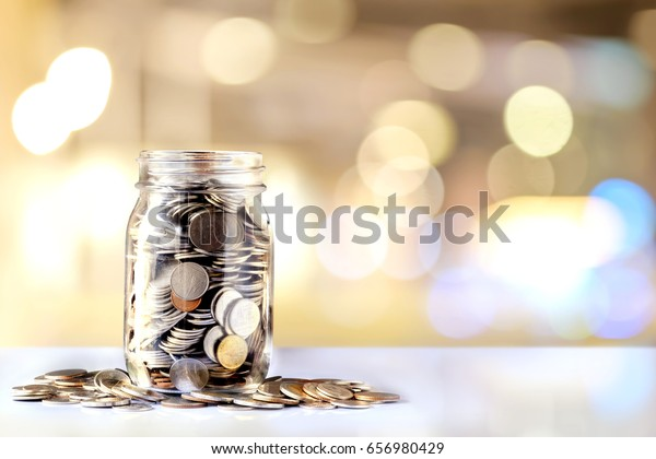 Donation Jar with Copy Space. Fundraiser, Charity and Relief Work.