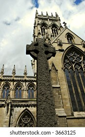 Doncaster cross and church