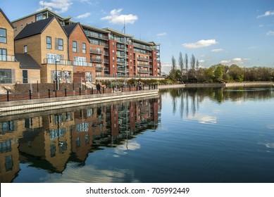 Doncaster lakeside buildings,Uk
