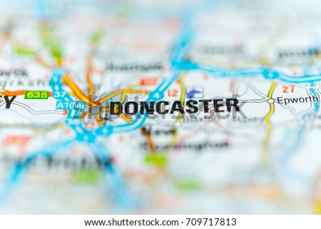 Doncaster On Map Stock Photo (Edit Now) 709717813 - Shutterstock